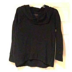 Lucky Brand Black Knit Cowl Neck Sweater Size S